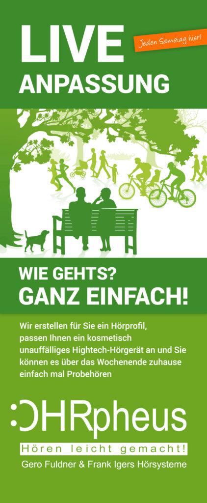 OHRpheus Mannheim Liveanpassung Plakat