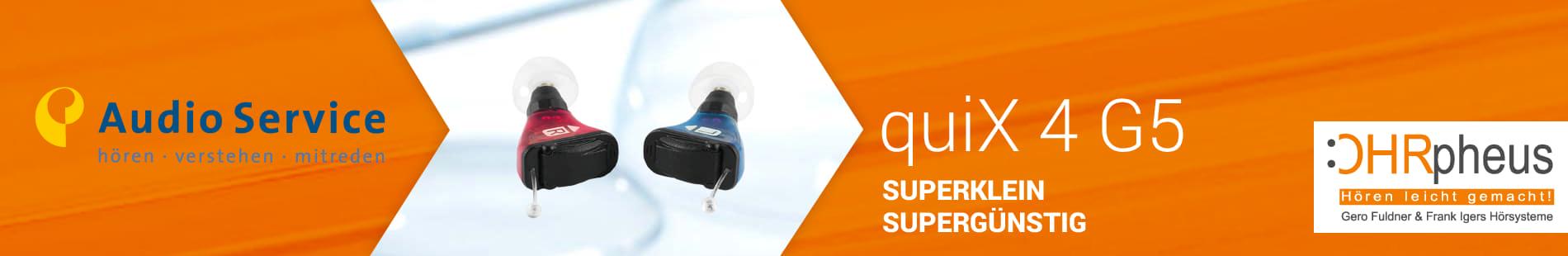 Audio Service quiX 4 G5 Sliderbild