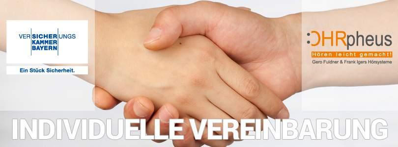 Neu! Individuelle Vereinbarung zwischen OHRpheus und der Bayerische Beamtenkrankenkasse