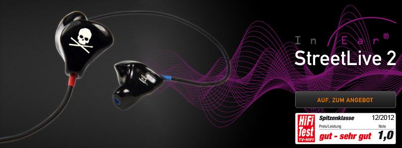InEar Streetlive 2 Kopfhörer bei OHRpheus Hörsysteme Artikelbild