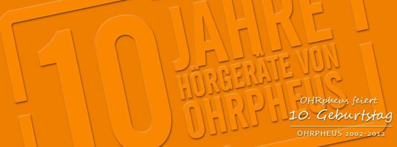 OHRpheus 10 Jahre Jubiläum Artikelbild