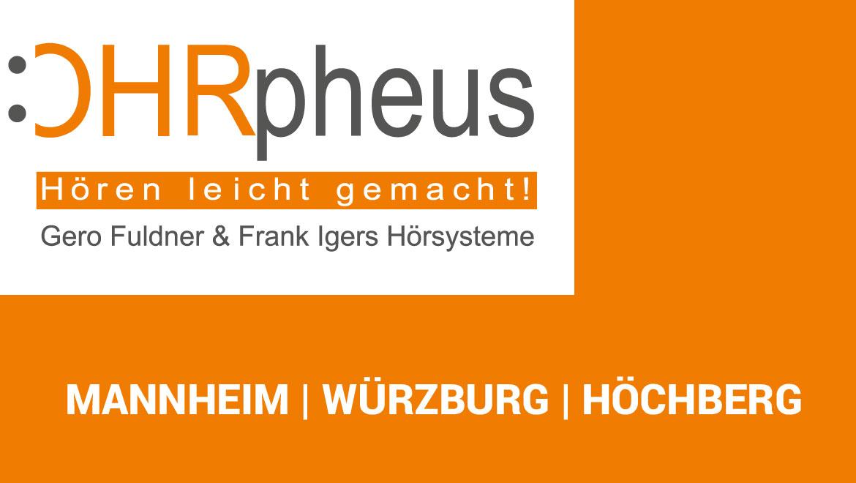 OHRpheus Hörsysteme Platzhalterbild mit Logo + 3 Standorte Mannheim Würzburg Höchberg