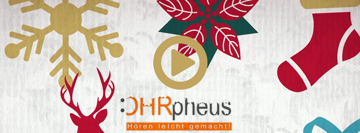 OHRpheus wünscht Frohe Weihnachten AMP