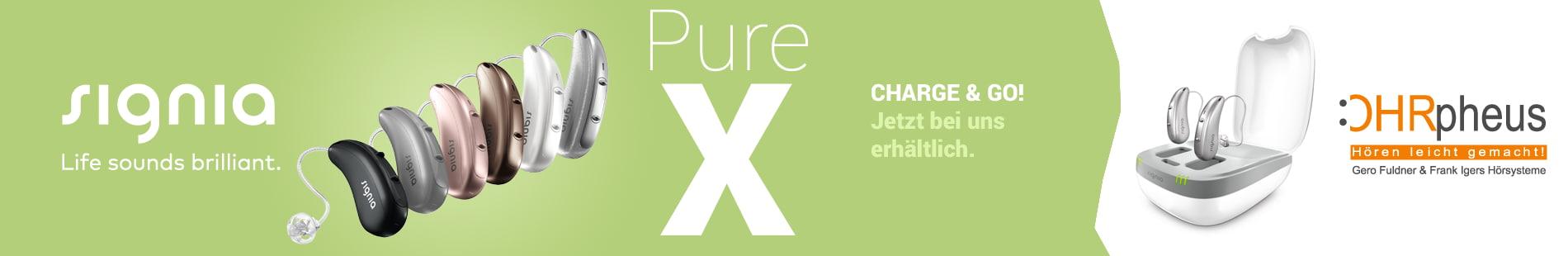 Signia Pure Charge&Go X Hörgerät jetzt bei OHRpheus Hörsysteme Sliderbild