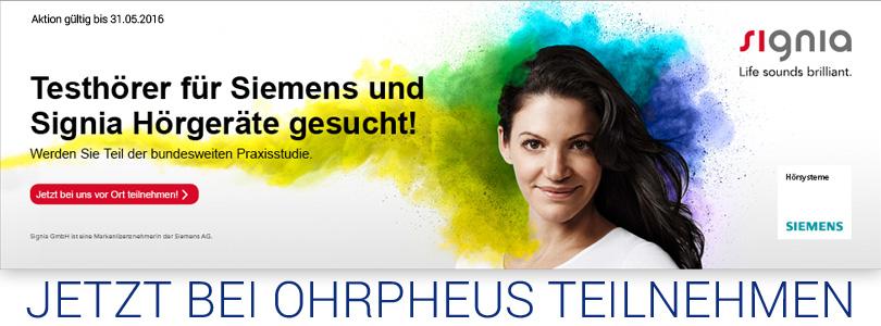 signia Siemens Hörgeräte Testhörer gesucht Artikelbild