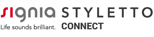 Signia Styletto Connect Headline Logos