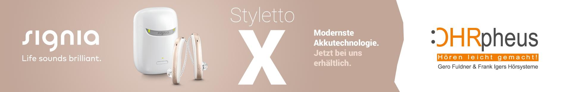 Signia Styletto X Hörgerät bei OHRpheus Hörsysteme Sliderbild